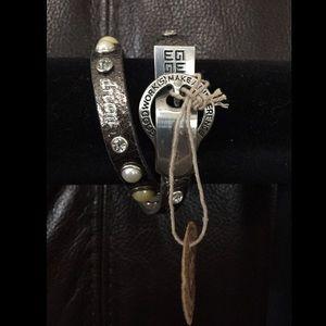 Good Works leather studded bracelet